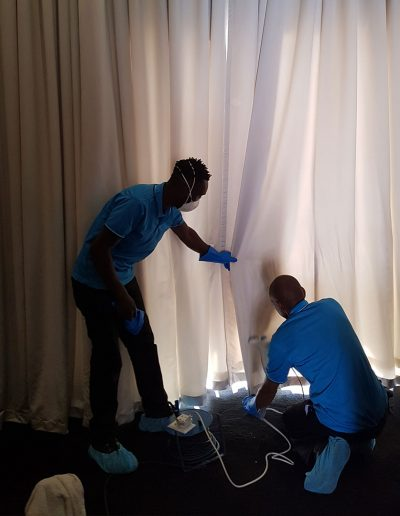 CLiCK Cleaning On-Rail Drape Cleaning