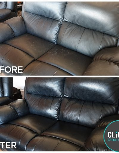 CLiCK Cleaning leather couch deep Cleaning Before and After