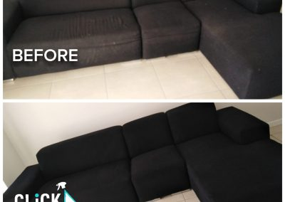 CLiCK Cleaning Upholstery Cleaning Before and After